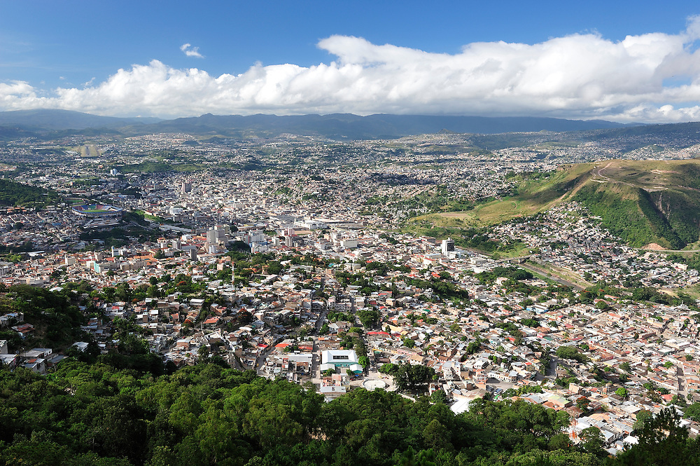 View over Tegucigalpa, Capitol City, Central America, Honduras.