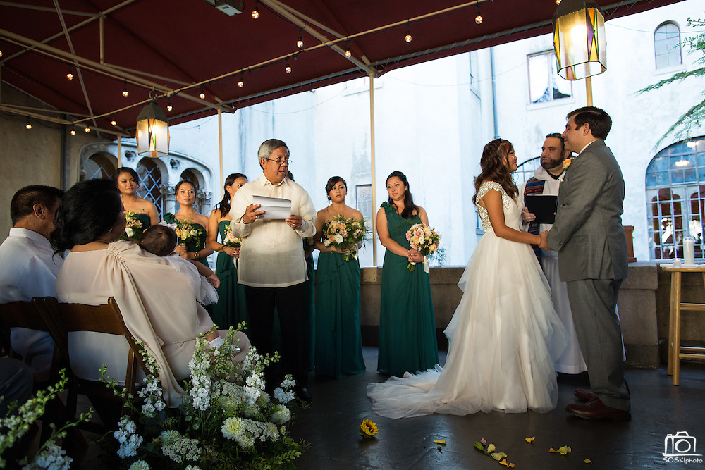 Michelle and Rafael Ruiz celebrate their wedding with family and friends at The Berkeley City Club in Berkeley, California, on September 26, 2015. (Stan Olszewski/SOSKIphoto)