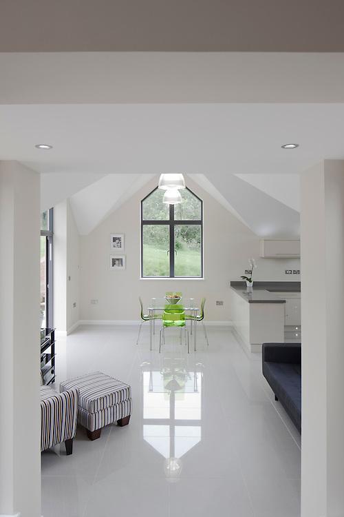 Open plan modern interior.