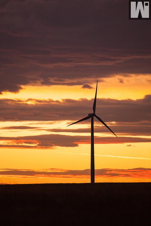 Windmills at the Cedar Creek Windfarm in Grover, CO.