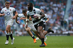 Semi Radradra of Barbarians runs in to score a try - Mandatory by-line: Ryan Hiscott/JMP - 27/05/2018 - RUGBY - Twickenham Stadium - London, England - England v Barbarians - Quilter Cup