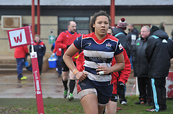 Row Marston of Bristol Ladies runs out after the interval - Mandatory by-line: Paul Knight/JMP - 03/02/2018 - RUGBY - Cleve RFC - Bristol, England - Bristol Ladies v Harlequins Ladies - Tyrrells Premier 15s