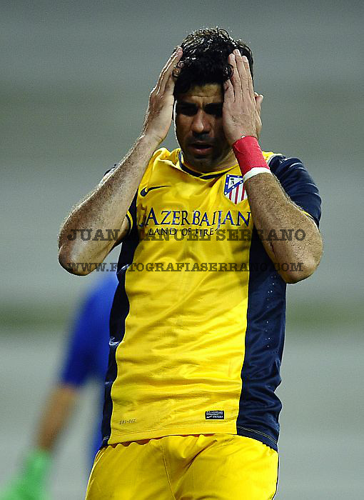 BILBAO, SPAIN - MARCH 29:  Diego Costa of Atletico de Madrid reacts during the La Liga match between Athletic Club de Bilbao and Club Atletico de Madrid at San Mames Stadium on March 29, 2014 in Bilbao, Spain.  (Photo by Juan Manuel Serrano Arce/Getty Images)