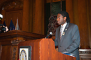 January 11, 2012 - Brooklyn, New York, USA: New York City Council Member Jumaane D. Williams (Dist. 45 - Dem) speaks at 2nd Annual Interfaith Memorial Service for Haiti, Wednesday night at Brooklyn Borough Hall. The service was held two years after the Mw 7.0 earthquake at Haiti..