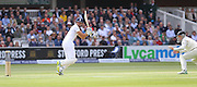 England Captain Alastair Cook scores four runs during the first day of the Investec 1st Test  match between England and New Zealand at Lord's Cricket Ground, St John's Wood, United Kingdom on 21 May 2015. Photo by Ellie  Hoad.