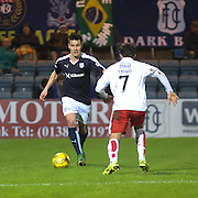 Dundee&rsquo;s Thomas Konrad runs at Falkirk&rsquo;s Tom Taiwo  - Dundee v Falkirk, William Hill Scottish Cup Fourth Round at Dens Park <br /> <br />  - &copy; David Young - www.davidyoungphoto.co.uk - email: davidyoungphoto@gmail.com