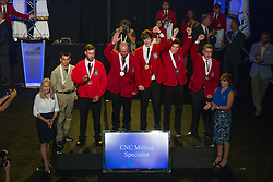 The 2017 SkillsUSA National Leadership and Skills Conference Competition Medalists were announced Friday, June 23, 2017 at Freedom Hall in Louisville. <br /> <br /> CNC Milling Specialist<br /> <br /> Scott May<br />   High School Saint Clair TEC<br />   Gold Marysville, MI<br /> CNC Milling SpecialistBen Kleinfelter<br />   High School Vanguard-Sentinel CTC-Sentinel Campus<br />   Silver Tiffin, OH<br /> CNC Milling SpecialistDavid Lopez<br />   High School Anderson W. Clark Magnet High School<br />   Bronze La Crescenta, CA<br /> CNC Milling SpecialistDan Thompson<br />   College College of Western Idaho<br />   Gold Nampa, ID<br /> CNC Milling SpecialistJake Engelking<br />   College Waukesha County Technical College<br />   Silver Pewaukee, WI<br /> CNC Milling SpecialistMatthew Bean<br />   College Penn College of Tech<br />   Bronze Williamsport, PA