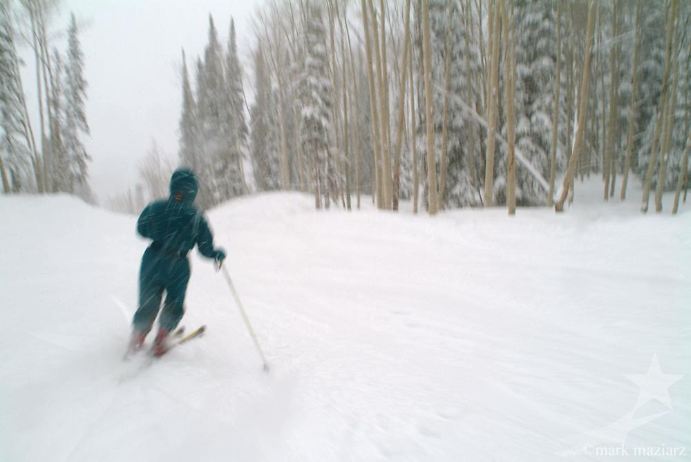skier at The Canyons