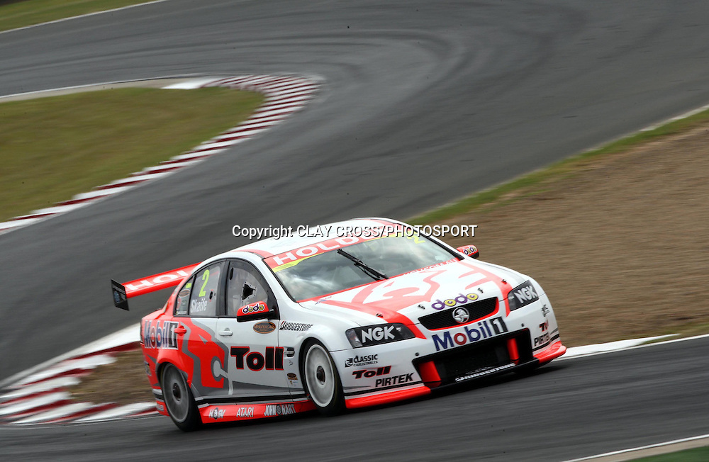 Mark Skaife driving the Holden Racing Team Holden during the V8 Supercar race at Eastern Creek Raceway, Western Sydney on Saturday 8th March 2008. Photo: Clay Cross/PHOTOSPORT