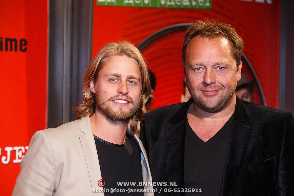 NLD/Amsterdam/20130107 - Premiere toneelstuk Baantjer, Joel de Tombe en Richard Groenendijk