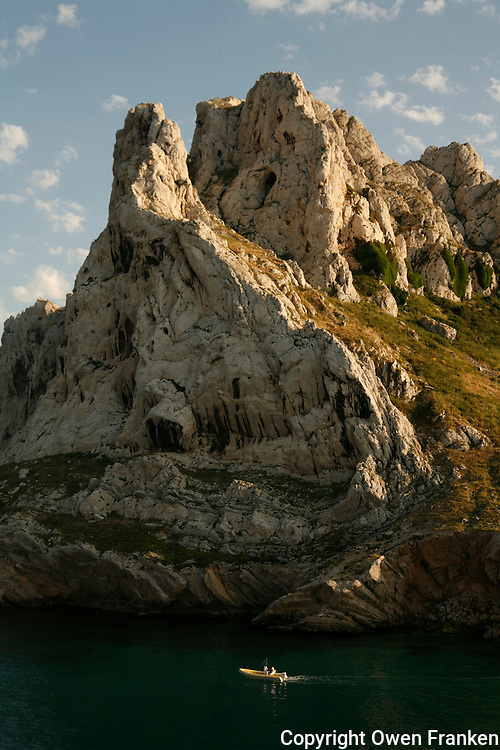 boats at the Baie des Singes (Monkey Bay)near Marseille-<br /> <br /> Photograph by Owen Franken