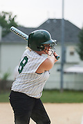Kassandra Hammond bats during a game against Gibbstown held at the Clayton Little League Complex Thursday July 7, 2011.