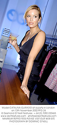 Model CATALINA GUIRADO at a party in London on 13th November 2002.			PFG 24