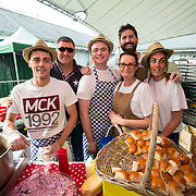 14.06.2018.             <br /> Limerick Food Group hosted the Urban Food Fest street food evening in the Milk Market on Thursday June 14th with a 'Summer Fiesta' theme in one big Limerick city summer party.<br /> <br /> Pictured at the event were, Tom Ford, Dave Ryan, Colin Shields Ryan, Jose Mada, Imelda Lineen and Louise Hannon, The Strand Hotel. Picture: Alan Place