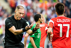 June 14, 2018 - Moscow, Russia - 180614 Referee NŽstor Pitana during the FIFA World Cup group stage match between Russia and Saudi Arabia on June 14, 2018 in Moscow..Photo: Petter Arvidson / BILDBYRN / kod PA / 92065 (Credit Image: © Petter Arvidson/Bildbyran via ZUMA Press)