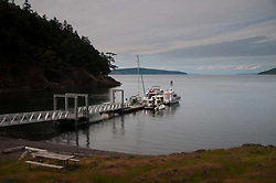 Dock, Jones Island, San Juan Islands, Washington, US
