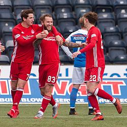Aberdeen celebrations for 0-2 - Kilmarnock v Aberdeen - Ladbrokes Premiership - 26 November 2017 - © Russel Hutcheson | SportPix.org.uk