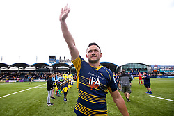 Jonny Arr of Worcester Warriors waves to the crowd ahead of his last appearance before retirement - Mandatory by-line: Robbie Stephenson/JMP - 18/05/2019 - RUGBY - Sixways Stadium - Worcester, England - Worcester Warriors v Saracens - Gallagher Premiership Rugby