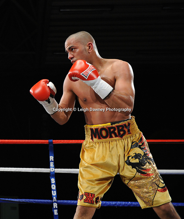 Tony Jeffries defeats Paul Morby (pictured) in a Light Heavyweight contest at the Doncaster Dome, Doncaster, UK, 3rd September 2011. Frank Maloney Promotions. Photo credit: Leigh Dawney 2011