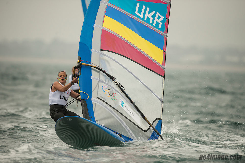 2012 Olympic Games London / Weymouth<br /> RSX women racing day 1 <br /> RS:X WomenUKRMaslivets Olga