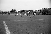 21/08/1966<br /> 08/21/1966<br /> 21 August 1966<br /> St. Patrick's Athletic v Waterford at Richmond Park, Dublin. Alfie Hale shoots for goal.
