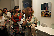 Suzy Sioux and Gillian anderson, PETA's Humanitarian Awards, Stella McCartney, Bruton Street, London, W1. 28 June 2006. ONE TIME USE ONLY - DO NOT ARCHIVE  © Copyright Photograph by Dafydd Jones 66 Stockwell Park Rd. London SW9 0DA Tel 020 7733 0108 www.dafjones.com