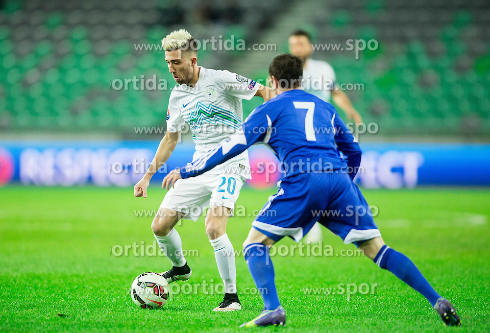 Kevin Kampl of Slovenia during football match between NationalTeams of Slovenia and San Marino in Round 5 of EURO 2016 Qualifications, on March 27, 2015 in SRC Stozice, Ljubljana, Slovenia. Photo by Vid Ponikvar / Sportida