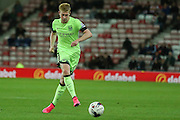 Manchester City midfielder Kevin De Bruyne during the Capital One Cup match between Sunderland and Manchester City at the Stadium Of Light, Sunderland, England on 22 September 2015. Photo by Simon Davies.
