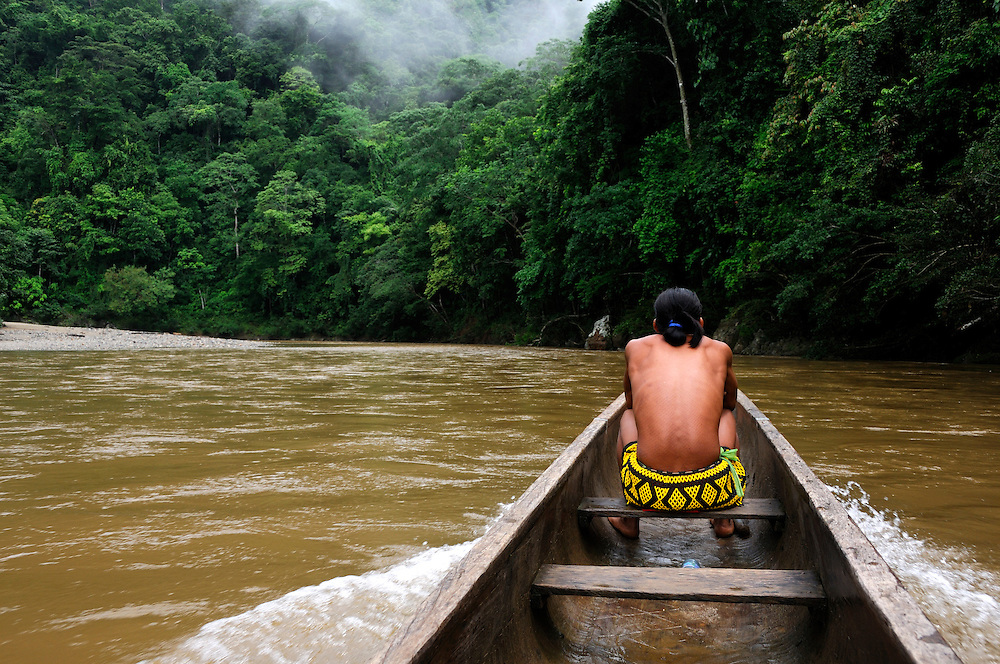 Embera Indian Village, Indigenous, Parque National Chagres, Chagres National Park, Panama, Central America