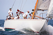 Gleam sailing in the Nantucket 12 Metre Class Regatta, day two.