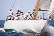 Gleam sailing in the Nantucket 12 Metre Class Regatta, day two.