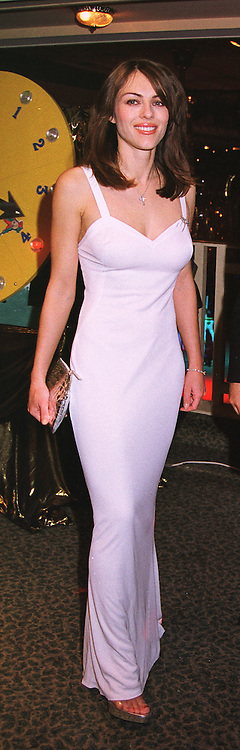 Actress MISS LIZ HURLEY at a ball in London on 13th May 1999.MRZ 61 wo