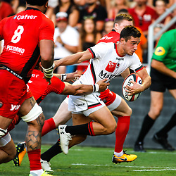 Baptiste Couilloud of Lyon during the pre-season match between Rc Toulon and Lyon OU at Felix Mayol Stadium on August 17, 2017 in Toulon, France. (Photo by Guillaume Ruoppolo/Icon Sport)
