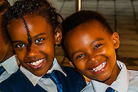 School children, Gold Reef City, Johannesburg, South Africa.