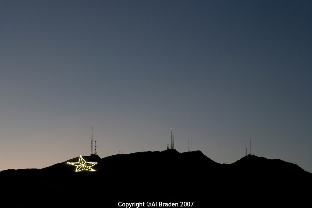 El Paso's Star on the Mountain is a year round symbol of this West Texas city.