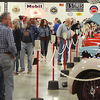 People fill the Tupelo Automobile Museum on Sunday to get one last look at the Frank Spain's car collection on the museum's final day being open to the public.