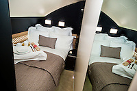 ABU DHABI, UAE - FEBRUARY 8, 2015: The Residence A380 is the new top luxury product by Etihad Airways. It includes a private room with dual occupancy, a shower and hotel-inspired services.
