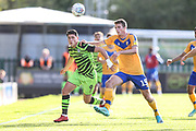 Forest Green Rovers Matty Stevens(9) and Mansfield Town's Paul Anderson(15) during the EFL Sky Bet League 2 match between Forest Green Rovers and Mansfield Town at the New Lawn, Forest Green, United Kingdom on 19 October 2019.