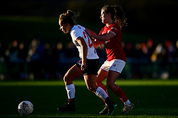 Charlie Wellings of Bristol City challenges Becky Jane of Liverpool Women - Mandatory by-line: Ryan Hiscott/JMP - 19/01/2020 - FOOTBALL - Stoke Gifford Stadium - Bristol, England - Bristol City Women v Liverpool Women - Barclays FA Women's Super League
