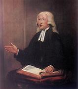 John Wesley (1703-1791) English non-conformist preacher. Founder of Methodism.  After 1788 portrait by William Hamilton (1751-1801).