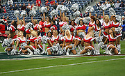 Houston Texans cheerleaders wearing Christmas outfits pose for a photo after doing a pregame dance routine during the NFL football game against the Seattle Seahawks on December 13, 2009 in Houston, Texas. The Texans won the game 34-7. ©Paul Anthony Spinelli