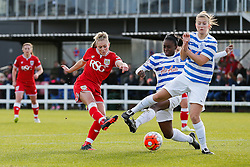Millie Farrow of Bristol City Women shoots - Mandatory byline: Rogan Thomson/JMP - 14/02/2016 - FOOTBALL - Stoke Gifford Stadium - Bristol, England - Bristol City Women v Queens Park Rangers Ladies - SSE Women's FA Cup Third Round Proper.