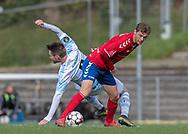 Christoffer Thrane (Slagelse) under kampen i 2. Division mellem Slagelse B&I og FC Helsingør den 6. oktober 2019 på Slagelse Stadion (Foto: Claus Birch).
