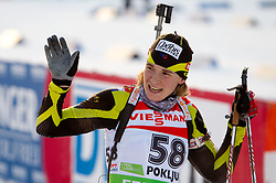 Anais Bescond of France during the Women 7,5 km Sprint of the e.on IBU Biathlon World Cup on Saturday, December 18, 2010 in Pokljuka, Slovenia. The fourth e.on IBU World Cup stage is taking place in Rudno polje - Pokljuka, Slovenia until Sunday December 19, 2010. (Photo By Vid Ponikvar / Sportida.com)