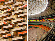 The Astrodome and urban balconies. Photographed by editorial photographer Nathan Lindstrom