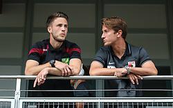 26.07.2015, Prien am Chiemsee, GER, Testspiel, FC Augsburg vs Norwich City, im Bild Paul Verhaegh (FC Augsburg #2, re.) im Gespraech mit Landsmann Ricky van Wolfswinkel (Norwich City FC) // during the International Friendly Football Match between FC Augsburg and Norwich City in Prien am Chiemsee, Germany on 2015/07/26. EXPA Pictures © 2015, PhotoCredit: EXPA/ Eibner-Pressefoto/ Krieger<br /> <br /> *****ATTENTION - OUT of GER*****