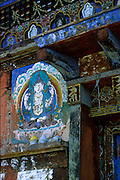 Dilapidated detail of a rural Buddhist temple in Bumthang.
