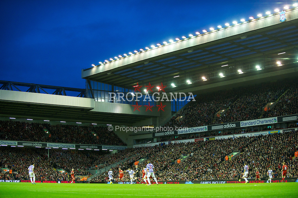 LIVERPOOL, ENGLAND - Saturday, December 10, 2011: Liverpool take on Queens Park Rangers during the Premiership match at Anfield. (Pic by David Rawcliffe/Propaganda)