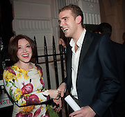 DAISY LEWIS; HARRY JARMAN, The Gentleman's Journal Autumn Party, in partnership with Gieves and Hawkes- No. 1 Savile Row London. 3 October 2013