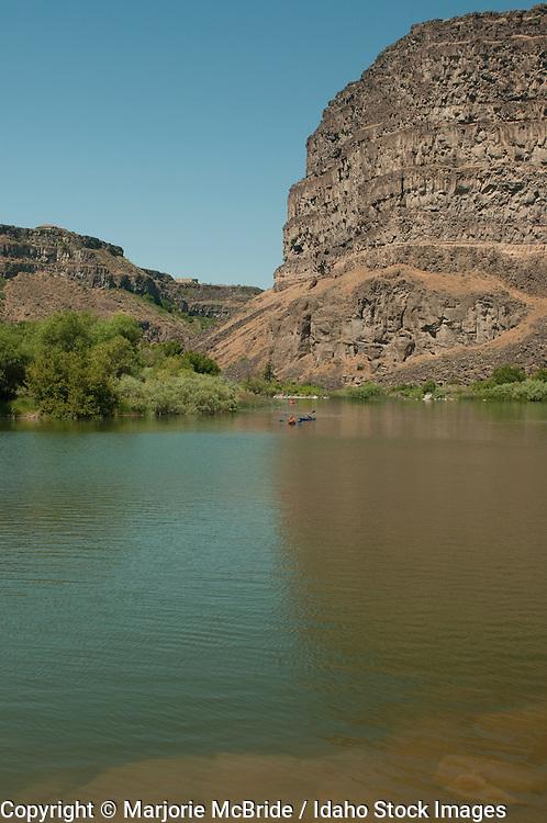 Kayaking the Snake River in Twin Falls, Idaho.